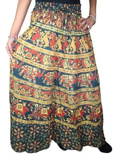 Indian Maxi Skirt- Peasant Cotton Long Skirts for Womans, Holiday Fashion