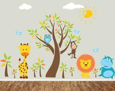 Items similar to Children Noahs Ark Wall Nursery Decal Sticker ...