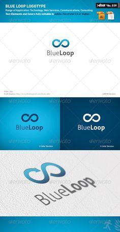 DOA Blue Loop Logo Template #graphicriver