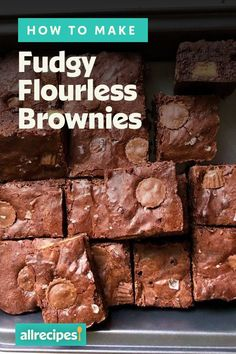 """How to Make Brownies with No Flour 