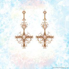 Fernando Jorge Fusion Clear Cross Earrings