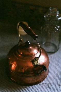 Copper Tea Kettle...I collect them and decorate with them!
