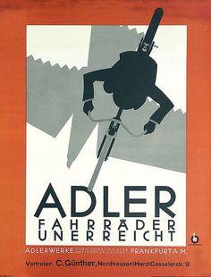 Adler Bicycles (1927) by Susanlenox, via Flickr