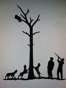 Coonhound Treeing Decal