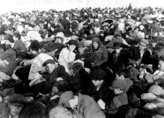 August 22, 1942 - Jews from Siedlce, Poland, before deportation On August 21, 1942, 400 Ukrainians, joined by the Polish police and SS troops, surrounded the ghetto and the next day 10,000 Jews were deported to the Treblinka death camp and 2,000 were executed in the Jewish cemetery.