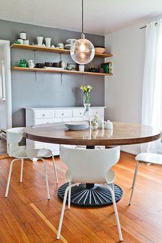 Wrap Chairs + Globe Pendant Light from west elm via @Design*Sponge