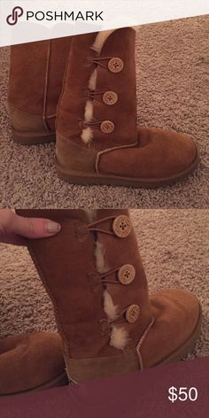 Ugg boots These are great furry ugg boots. UGG Shoes Winter & Rain Boots