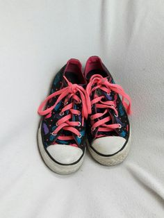 new styles 45873 8bca3 Super Cute   Rare Mustache Converse Chuck Taylor All Star Low Top Junior  Size 3
