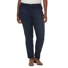 Plus Size Croft & Barrow® Classic Fit Bootcut Jeans, Women's, Size: 24W Short, Blue