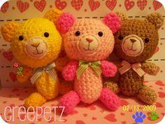 Teddy bears amigurumi