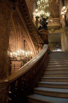 Grand Staircase in Palais Garnier, Paris, France Beautiful Architecture, Beautiful Buildings, Architecture Design, Beautiful Places, Beautiful Stairs, Creative Architecture, Baroque Architecture, Grande Cage D'escalier, Belle France