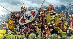Celtic noble horsemen. Art by Giuseppe Rava
