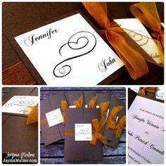 diy fall wedding invites   Fall Wedding Invitations & Thank You Card