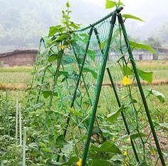 Amgate Nylon Trellis Netting Plant Support for Climbing Plants Vine Trellis Net 2.95Ft 5.9Ft
