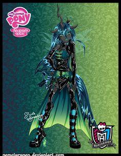 Queen Chrysalis a-la-Monster High by NemoTurunen.deviantart.com on @deviantART