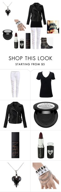 """Emo outfit #66"" by in-seva on Polyvore featuring Miss Selfridge, Jeffrey Campbell, NARS Cosmetics, Voom and Plukka"