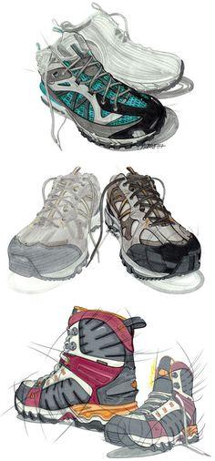 Sketches de Calzado / Shoe Rendering