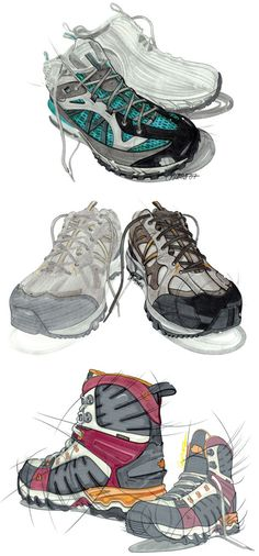 Sketches de Calzado / Shoe Rendering