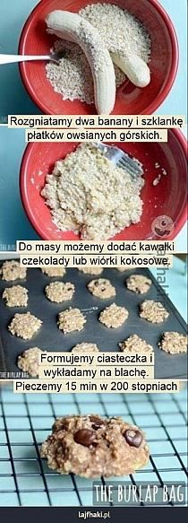 Kuchnia na Stylowi.pl Comidas Fitness, Good Food, Yummy Food, Healthy Sweets, Food Design, Bananas, Food Inspiration, Sweet Recipes, Food To Make
