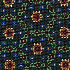 DC5783 peyote flower mark hordyszynski beadwork southwest ethnic multi beads.  Another great idea for hexagons