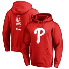 Aaron Nola Philadelphia Phillies Fanatics Branded Backer Pullover Hoodie - Red - $64.99