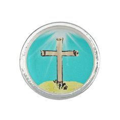 Symbolic Cross Photo Ring