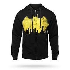 Vintage Batman Skyline Hoodie