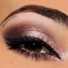 Combine analogous hues such as purple and pink eyeshadow to bring out your brown eyes. This look is perfect for a night out. It's an easy DIY. Catch it here..