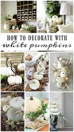 liz marie blog How To Decorate With White Pumpkins http://www.lizmarieblog.com/2016/09/how-to-decorate-with-white-pumpkins/ via bHome https://bhome.us