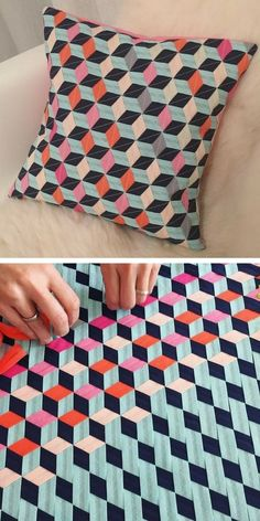 Diy Crafts - Fabric Crafts Fabric Weaving Cushion Cover by mymaki Paper Weaving, Weaving Art, Weaving Patterns, Tapestry Weaving, Quilt Patterns, Fabric Weaving, Weaving Textiles, Textiles Techniques, Weaving Techniques