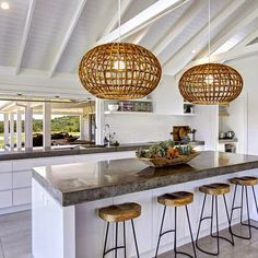milo and mitzy: The Grove Byron Bay Kitchen window island shelving