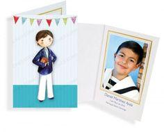Portafotos en cartulina niño Primera Comunión