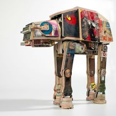 ATAT made from reclaimed skateboards by artist, Derek Keenan #StarWars #Skateboards #Recycle #Upcycle