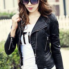 Cool Girl Biker PU Jacket