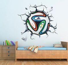 Urbano - Bola de Futebol na Parede em vinil autocolante - Decoração em vinil Autocolante decorativo e Papel de parede