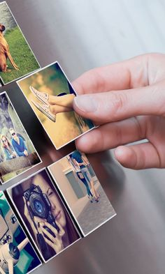 These cute magnets can be made with photos from your Instagram