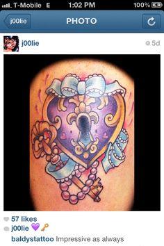 #Heart #key #tattoo