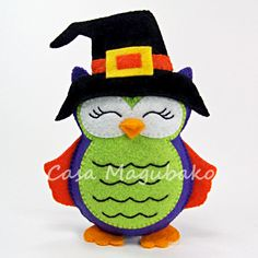 Felt Halloween Owl Ornament - Digital Sewing Pattern - DIY - PDF File Tutorial…