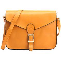 FC Vegan Bags New Vegan Yellow Crossbody Satchel Handbag (€83) ❤ liked on Polyvore featuring bags, handbags, purse crossbody, crossbody purses, yellow purse, man bag and orange purse