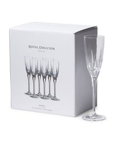 Made In Italy Set Of 6 Belvedere Flutes by Royal Doulton