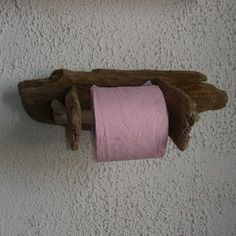 Dérouleur papier toilette en bois flotté