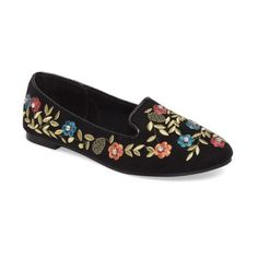 686d70e69201 Women s Topshop Sweetie Embroidered Loafer ( 45) ❤ liked on Polyvore  featuring shoes