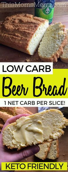 Low Carb Beer Bread Cut your Belly Fat Cutbellyfat Keto Easy Beer Bread is one of my all time favorite quick breads. Served warm and smeared with butter it is pure perfection! This bread is super easy, low in carbs and is a great addition to any meal Ketogenic Recipes, Diabetic Recipes, Low Carb Recipes, Cooking Recipes, Diet Recipes, Recipes Dinner, Breakfast Recipes, Breakfast Bars, Chicken Recipes