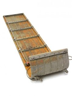 Another form of a man-powered sled - a TOBOGGAN   - coasting without runners or steering.