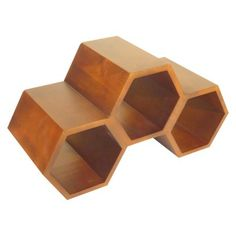 honeycomb wine rack (for toiletries in the bathroom?)