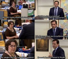 """Funniest Moments From 'The Office' Relive the 50 most hysterical moments from """"The Office"""" before Dunder Mifflin closes its doors forever.Relive the 50 most hysterical moments from """"The Office"""" before Dunder Mifflin closes its doors forever. Tv Quotes, Movie Quotes, Funny Quotes, Girl Quotes, Family Quotes, Office Memes, Office Quotes, Funny Office, Office Gifs"""