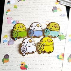 Pudgy Budgie Enamel Pin by Birbber Cute Kawaii Animals, Jacket Pins, Kawaii Accessories, Shrinky Dinks, Budgies, Cockatiel, Cool Pins, Pin And Patches, Pin Badges