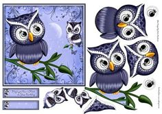 Hope You have a Hoot on Craftsuprint designed by Gillian Hutchinson - Little owl themed topper with decoupage