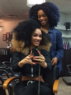 "joujouhair: "" Bored with your Afro/Curls?…Try Ombré! Like our Director, Janet Jackson did with Artist Kreesha Turner! """