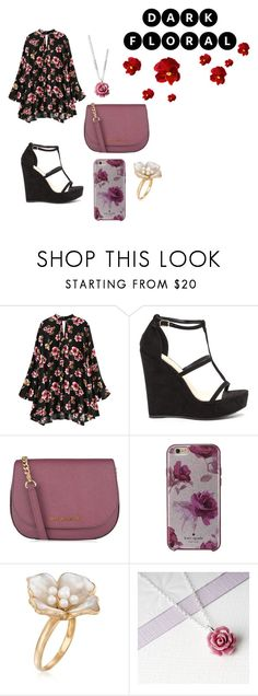 """Dark floral"" by emi-loo-boo13 ❤ liked on Polyvore featuring MICHAEL Michael Kors, Kate Spade and Ross-Simons"